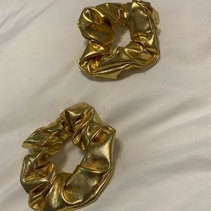 Two Gold Scrunchies